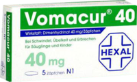 VOMACUR 40 Suppositorien